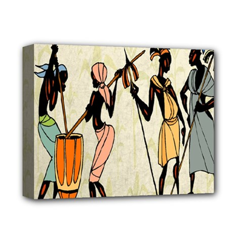 Man Ethic African People Collage Deluxe Canvas 14  X 11