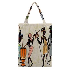 Man Ethic African People Collage Classic Tote Bag