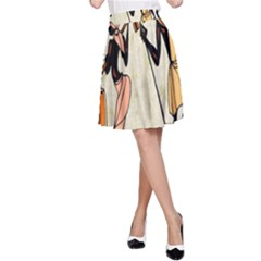 Man Ethic African People Collage A Line Skirt