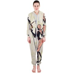 Man Ethic African People Collage Hooded Jumpsuit (ladies)