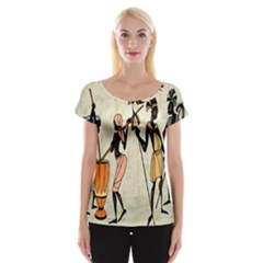 Man Ethic African People Collage Cap Sleeve Tops