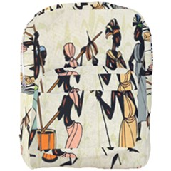 Man Ethic African People Collage Full Print Backpack