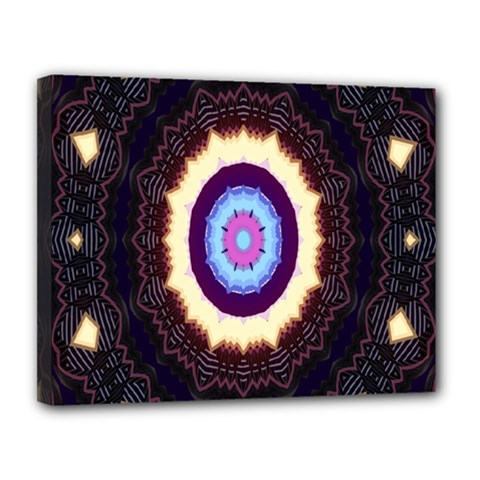 Mandala Art Design Pattern Canvas 14  X 11