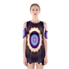 Mandala Art Design Pattern Shoulder Cutout One Piece
