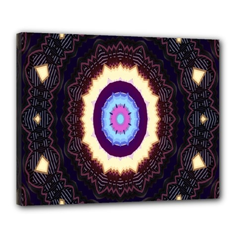 Mandala Art Design Pattern Canvas 20  X 16