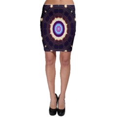 Mandala Art Design Pattern Bodycon Skirt