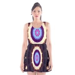 Mandala Art Design Pattern Scoop Neck Skater Dress