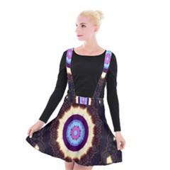 Mandala Art Design Pattern Suspender Skater Skirt