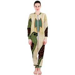 Egyptian Paper Papyrus Bird Onepiece Jumpsuit (ladies)
