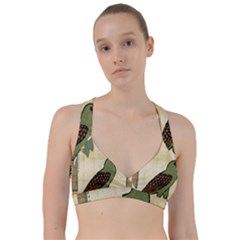 Egyptian Paper Papyrus Bird Sweetheart Sports Bra