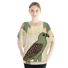 Egyptian Paper Papyrus Bird Blouse