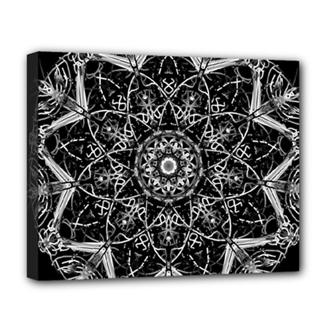 Mandala Psychedelic Neon Deluxe Canvas 20  X 16