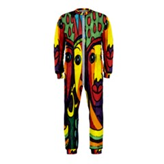 Ethnic Bold Bright Artistic Paper Onepiece Jumpsuit (kids)