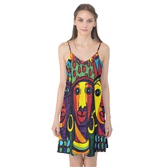 Ethnic Bold Bright Artistic Paper Camis Nightgown