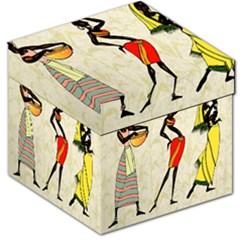 Woman Ethic African People Collage Storage Stool 12