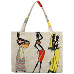 Woman Ethic African People Collage Mini Tote Bag