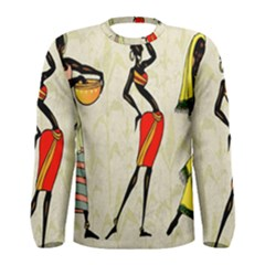 Woman Ethic African People Collage Men s Long Sleeve Tee