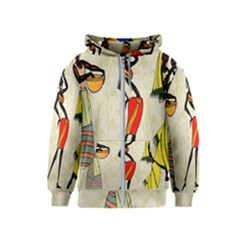 Woman Ethic African People Collage Kids  Zipper Hoodie