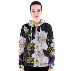 Dahlias Dahlia Dahlia Garden Women s Zipper Hoodie