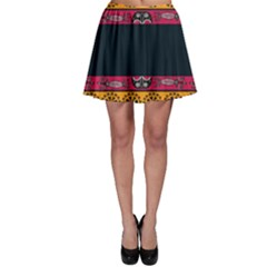 Pattern Ornaments Africa Safari Skater Skirt