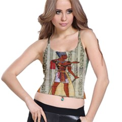 Egyptian Design Man Royal Spaghetti Strap Bra Top