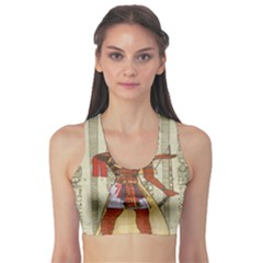 Egyptian Design Man Royal Sports Bra
