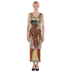 Egyptian Design Man Royal Fitted Maxi Dress