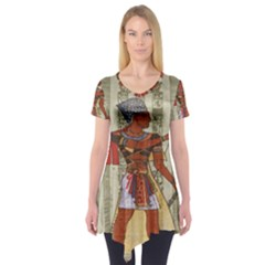 Egyptian Design Man Royal Short Sleeve Tunic