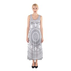 Mandala Ethnic Pattern Sleeveless Maxi Dress