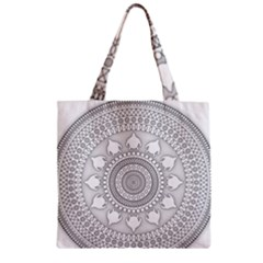 Mandala Ethnic Pattern Zipper Grocery Tote Bag