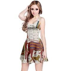 Egyptian Tutunkhamun Pharaoh Design Reversible Sleeveless Dress