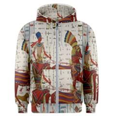 Egyptian Tutunkhamun Pharaoh Design Men s Zipper Hoodie