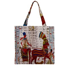 Egyptian Tutunkhamun Pharaoh Design Zipper Grocery Tote Bag