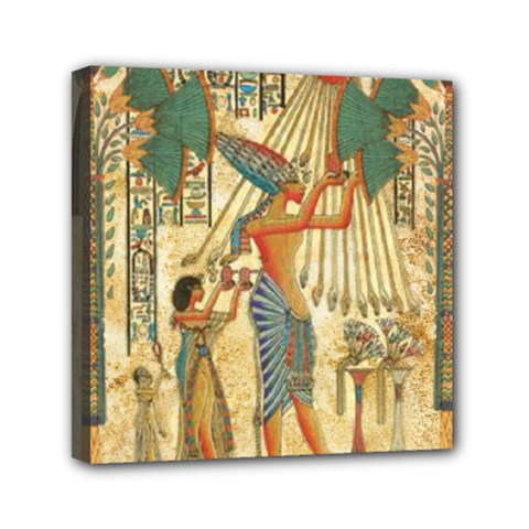 Egyptian Man Sun God Ra Amun Mini Canvas 6  X 6
