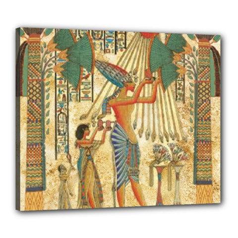 Egyptian Man Sun God Ra Amun Canvas 24  X 20
