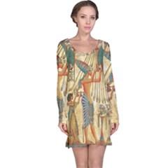 Egyptian Man Sun God Ra Amun Long Sleeve Nightdress
