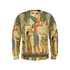 Egyptian Man Sun God Ra Amun Kids  Sweatshirt