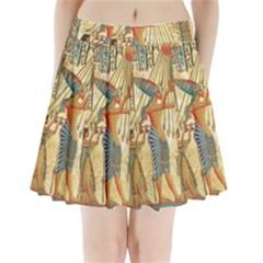 Egyptian Man Sun God Ra Amun Pleated Mini Skirt