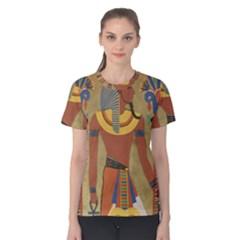 Egyptian Tutunkhamun Pharaoh Design Women s Cotton Tee