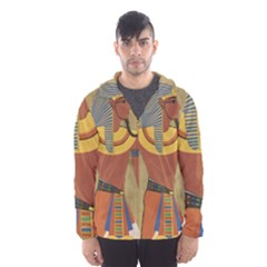 Egyptian Tutunkhamun Pharaoh Design Hooded Wind Breaker (men)