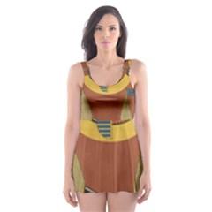 Egyptian Tutunkhamun Pharaoh Design Skater Dress Swimsuit