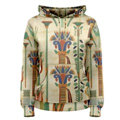 Egyptian Paper Papyrus Hieroglyphs Women s Pullover Hoodie
