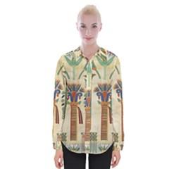 Egyptian Paper Papyrus Hieroglyphs Womens Long Sleeve Shirt