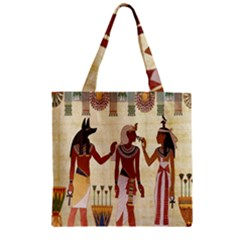 Egyptian Design Man Woman Priest Zipper Grocery Tote Bag