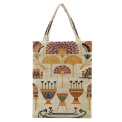 Egyptian Paper Papyrus Hieroglyphs Classic Tote Bag