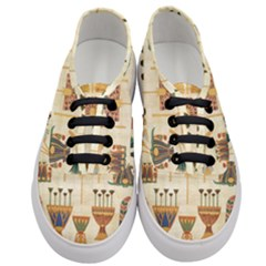 Egyptian Paper Papyrus Hieroglyphs Women s Classic Low Top Sneakers