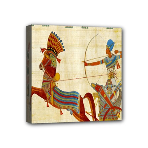 Egyptian Tutunkhamun Pharaoh Design Mini Canvas 4  X 4