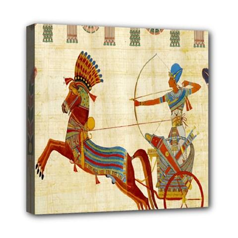 Egyptian Tutunkhamun Pharaoh Design Mini Canvas 8  X 8
