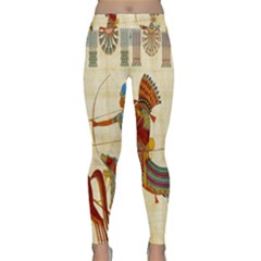 Egyptian Tutunkhamun Pharaoh Design Classic Yoga Leggings