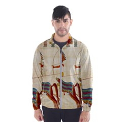 Egyptian Tutunkhamun Pharaoh Design Wind Breaker (men)